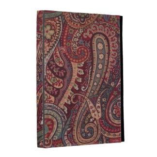 Caisse rouge vintage de folio d'iPad de Paisley Coques iPad