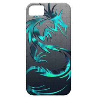 caisse tribale verte de téléphone de dragon étui iPhone 5