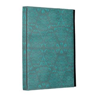 Caisse turquoise de folio d'iPad de bijou Étuis iPad Folio