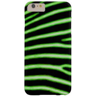 Caisse verte au néon de zèbre coque iPhone 6 plus barely there