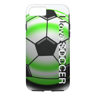 Caisse verte de l'iPhone 7 de ballon de football Coque iPhone 7