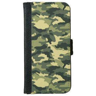 Caisse verte de portefeuille de l'iPhone 6 de