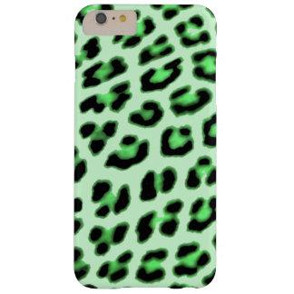 Caisse verte d'empreinte de léopard coque iPhone 6 plus barely there