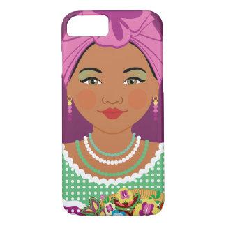 Caisse violette cubaine de Matryoshka Coque iPhone 7