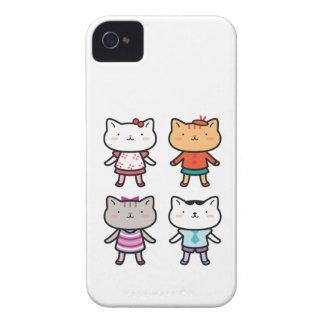 Caisses de Blackberry d'enfants de Kitty Coque iPhone 4