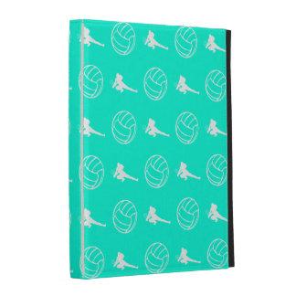 Caisses de folio d iPad de motif de volleyball de Étui iPad Folio