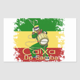 Caixa Batucada Samba Sticker Rectangulaire