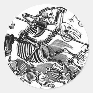 Calavera de Don don Quichotte circa 1900 s tôt Autocollants