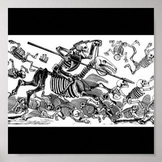 """""""Calavera de Don don Quichotte"""" circa 1900's tôt Poster"""