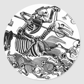 """Calavera de Don don Quichotte"" circa 1900's tôt Sticker Rond"