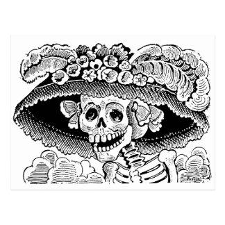 Calavera Garbancera par José Guadalupe Posada Carte Postale