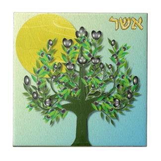 Calcinateur de l'Israël de tribus de Judaica 12 Carreaux En Céramique