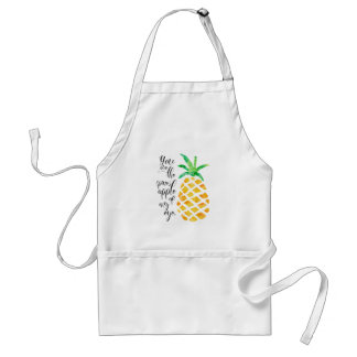 Calembour de nourriture du tablier | d'ananas