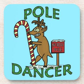 Calembour drôle de renne de Noël de danseur Dessous-de-verre