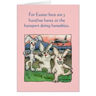 Calembours heureux de Pâques avec les cartes