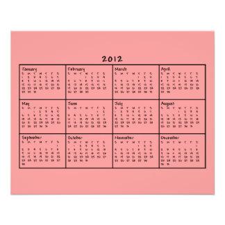 Calendrier 2012 prospectus personnalisés