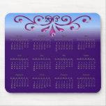 Calendrier 2013 décoratif tapis de souris