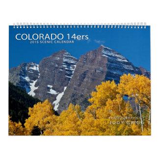 Calendrier 2015 de Colorado 14ers