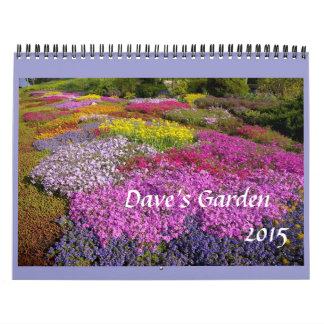 Calendrier 2015 du jardin de Dave