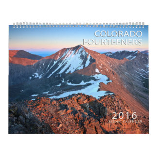 Calendrier 2016 du Colorado Fourteeners