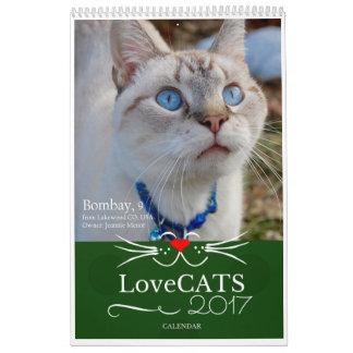 """Calendrier 2017 de LoveCATS """"dehors"""" Edition"""
