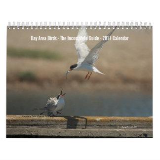 Calendrier 2017 de photo d'oiseaux de région de