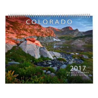 Calendrier 2017 pittoresque du Colorado