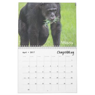 Calendrier 2017 pour le sanctuaire de chimpanzé du
