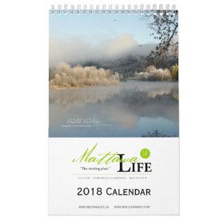 Calendrier 2018 de la vie de Mattawa - l'anglais