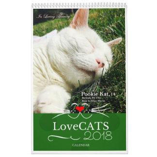 """Calendrier 2018 de LoveCATS """"rêves doux"""" Ed"""