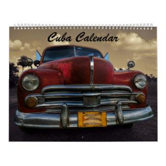 Calendrier 2018 du Cuba
