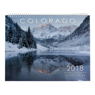 Calendrier 2018 pittoresque du Colorado