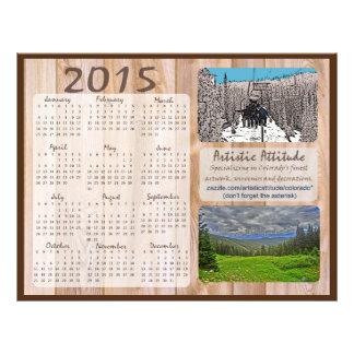 Calendrier annuel de promo de zazzle du Colorado Prospectus 21,6 Cm X 24,94 Cm