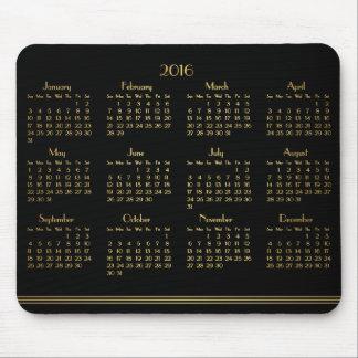 Calendrier annuel d'or noir d'art déco Mousepad Tapis De Souris