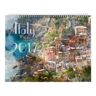 Calendrier Aquarelle 2017 d'art de l'Italie