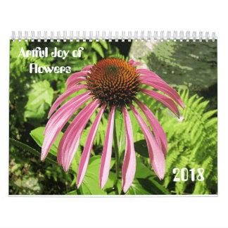 Calendrier astucieux de 2018 fleurs