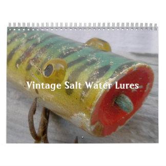 Calendrier - attraits vintages d'eau salée