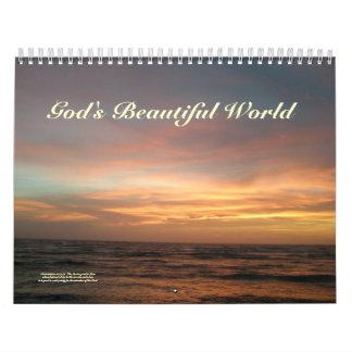Calendrier - beau calendrier du monde de Dieu