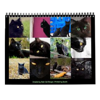 Calendrier Beau mur 2018 de douze mois de chats noirs