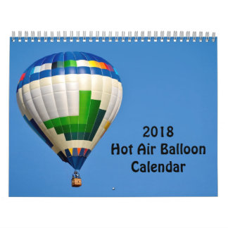 Calendrier chaud de ballon à air 2018