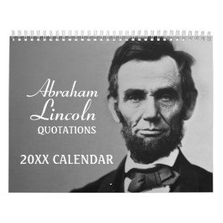 Calendrier Citations d'Abe Lincoln avec la photo