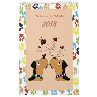 Calendrier d'Airedale Terrier
