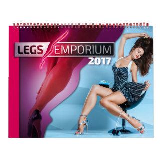 Calendrier de centre commercial de 2017 jambes