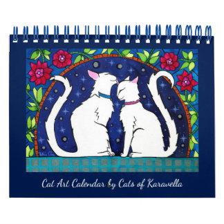 Calendriers Muraux Calendrier de chat par des chats d'atelier de