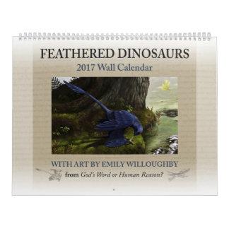 Calendrier de dinosaure fait varier le pas par