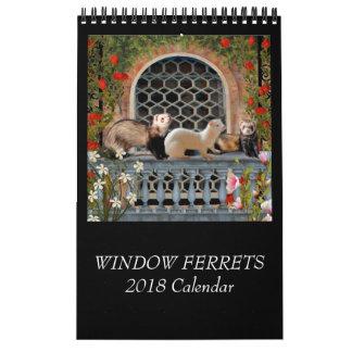 Calendrier de furets de fenêtre