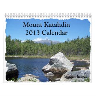 Calendrier de Katahdin 2013 de bâti
