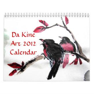 Calendrier de l'art 2012 du DA Kine