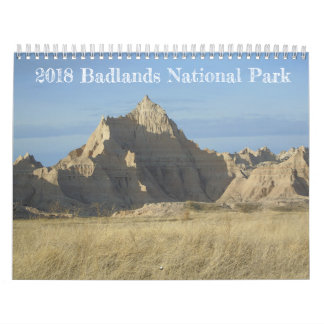Calendrier de parc national de 2018 bad-lands