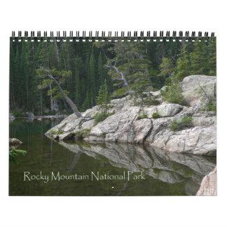 Calendrier de parc national de montagne rocheuse